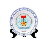 Đĩa sứ lưu niệm, đĩa sứ in logo mua ở đâu giá rẻ